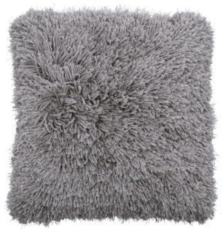 An Image of Argos Home Eyelash Luxe Cushion - Grey