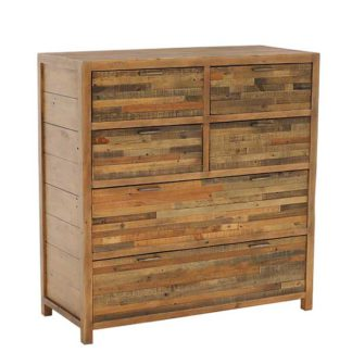 An Image of Charlie Reclaimed Wood 6 Drawer Chest Cabinet