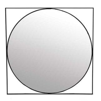 An Image of Black Framed Mirror
