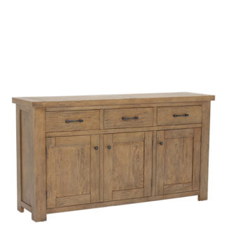An Image of Antix 3 Door 3 Drawer Sideboard Smokehouse Distress