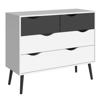 An Image of Viken 2 Plus 2 Chest of Drawers - White and Oak