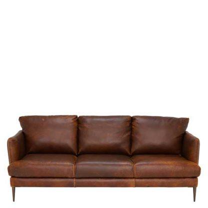 An Image of New Acacia Leather Sofa