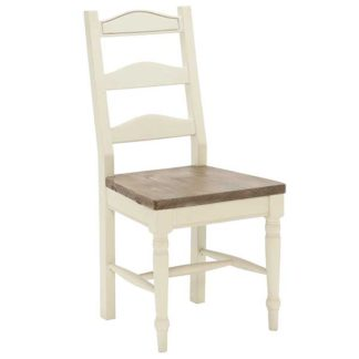 An Image of Carisbrooke Dining Chair with Turned Legs and Wooden Seat Stucco Whit