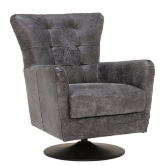 An Image of New Grigri Leather Swivel Chair