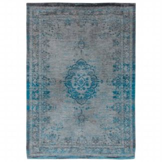 An Image of Fading World Grey Turquoise Rug