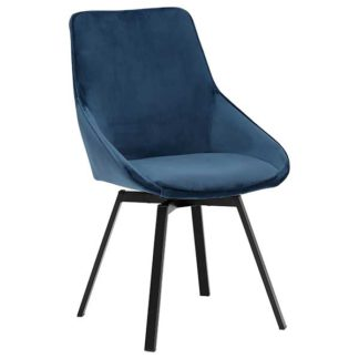 An Image of Beckton Dining Chair Blue
