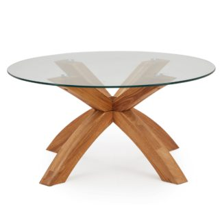 An Image of Xavi Coffee Table Brown and Clear