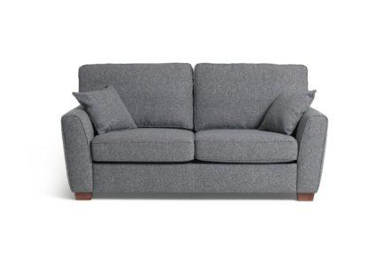 An Image of Habitat Milford 3 Seater Fabric Sofa - Grey
