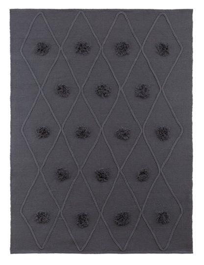 An Image of Argos Home Pom Pom Hand Woven Rug - 120x160cm - Grey