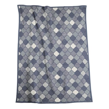 An Image of Thermosoft Vintage Blue Blanket Navy (Blue)