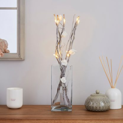 An Image of White Rose Silver Twig Lights White