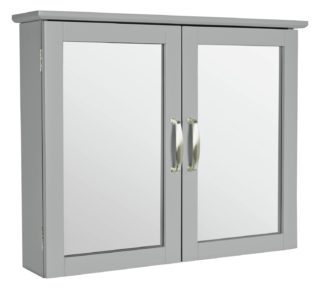 An Image of Argos Home Tongue & Groove Wall Cabinet - Grey