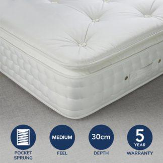 An Image of Fogarty Medium SuperFull Pillowtop 2000 Pocket Sprung Mattress White
