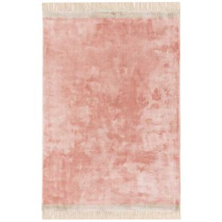 An Image of Elgin Rug Pink and Silver