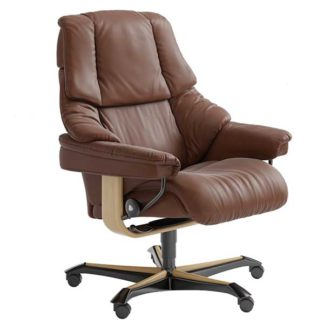 An Image of Stressless Reno Office Chair Choice of Leather