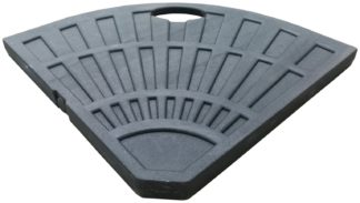An Image of Argos Home Resin Quarter Parasol Base - Black