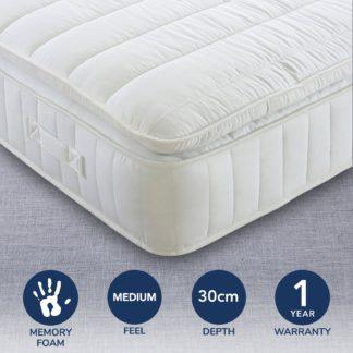 An Image of Medium 1000 Pocket Pillowtop Mattress White