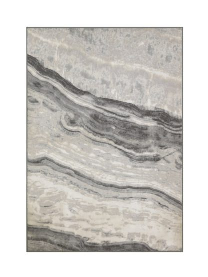 An Image of Argos Home Glam Marble Rug - 120x170cm - Grey