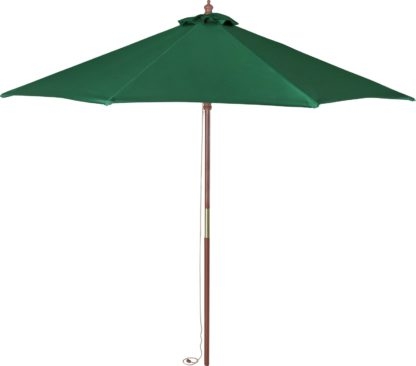 An Image of Argos Home 2.7m Water Repellent Garden Parasol - Green
