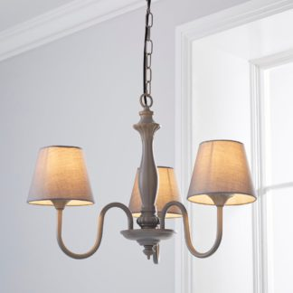 An Image of Tofty 3 Light Grey Ceiling Fitting Grey
