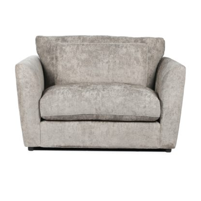 An Image of Esther Chenille Snuggle Chair Mink