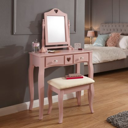 An Image of Heart Dressing Table Set Pink