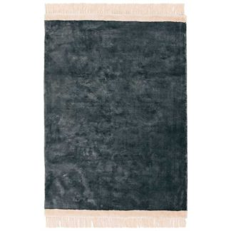 An Image of Elgin Rug Petrol and Pink