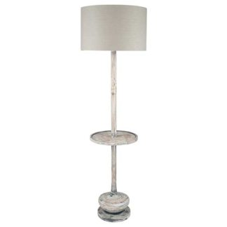 An Image of Distressed Wood Floor Lamp White Wash