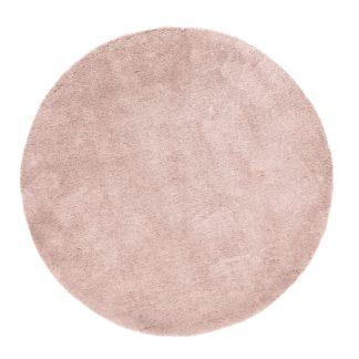 An Image of Teddy Bear Circle Rug Pink