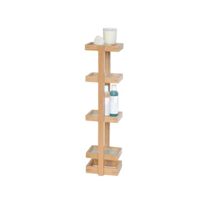 An Image of Wireworks Natural Oak Mezza Washstand