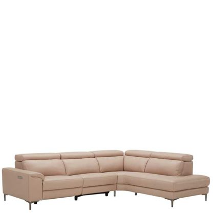 An Image of Cavalli Right Hand Facing Corner Sofa Oslo Pink O7035