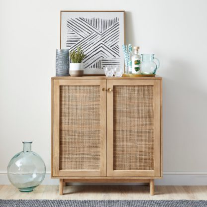 An Image of Indi Small Sideboard Wood (Brown)