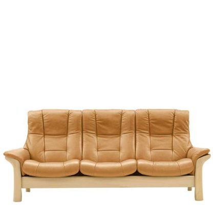 An Image of Stressless Buckingham High Back 3 Seater Choice of Leather