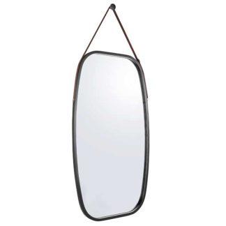 An Image of Black Oblong Mirror Black