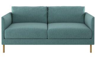 An Image of Habitat Hyde 2 Seater Fabric Sofa - Teal