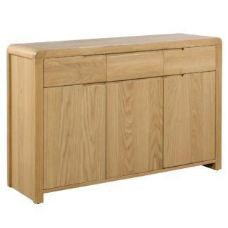 An Image of Curve Oak Sideboard Oak