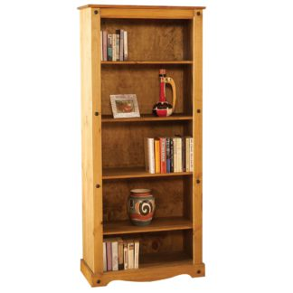 An Image of Corona Pine Tall Bookcase Brown