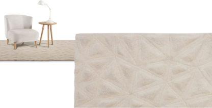 An Image of Tekari Wool Rug, Large 160 x 230cm, Cream