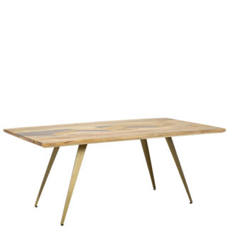 An Image of Leif Dining Table Natural Mango Wood