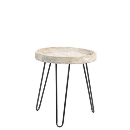 An Image of Natural Wood Side Table Natural