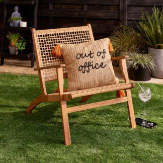 An Image of Phoenix Acacia Chair Wood (Brown)
