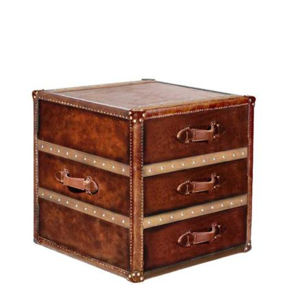 An Image of Timothy Oulton Stonyhurst Large Side Table Vintage Cigar