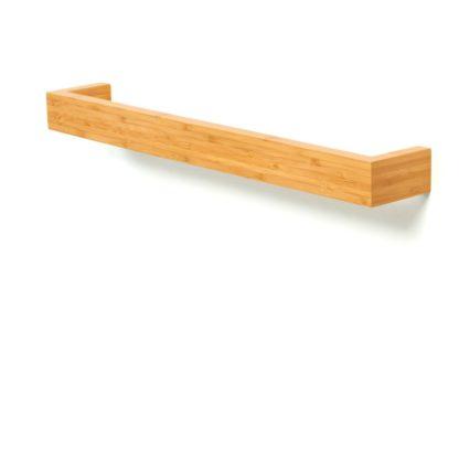 An Image of Wireworks Coffee Bamboo Single Towel Rail