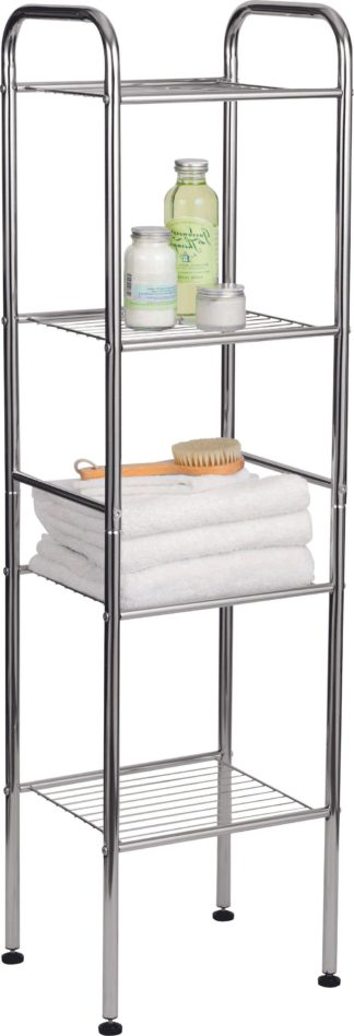An Image of Argos Home 4 Tier Wire Shelf Unit