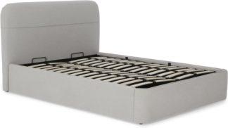 An Image of Baya King Size Ottoman Storage Bed, Hail Grey