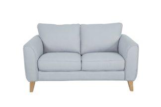 An Image of Habitat Cooper 2 Seater Fabric Sofa - Light Grey
