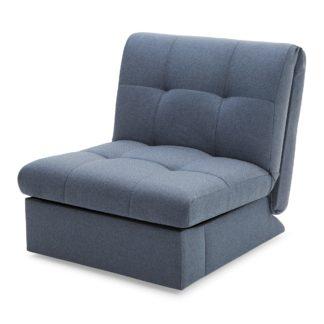 An Image of Navy Rowan Single Sofa Bed Navy