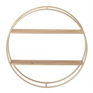 An Image of Round Double Wall Shelf Gold