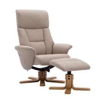 An Image of Whitham Swivel Recliner Chair - Natural Natural