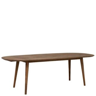 An Image of Bora Dining Table Rustical Oak